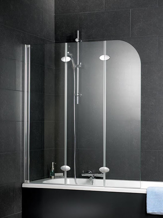 schulte badewannenaufsatz badewannenfaltwand 3 teilig d3354 echtglas ebay. Black Bedroom Furniture Sets. Home Design Ideas